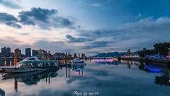 大稻埕 (lwj54168) Tags: 大稻埕 碼頭 船 雲 台北 cloud sunset nikon d750 1635mm taiwan sky bule photo light boats
