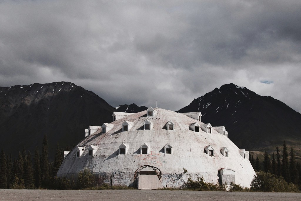 Igloo Hotel (SkylerBrown) Tags: Abandoned Alaska Clouds Hotel Igloo Motel  Mountains Summer Travel