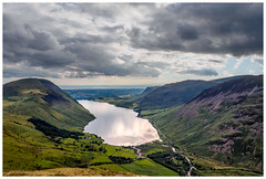 Wastwater and beyond. (malcbawn) Tags: illgillhead wasdale yewbarrow greatgable lakedistrict nationalpark mosedale scafell wasdalehead pillar clouds unesco lakes kirkfell middlefell outdoors mountains wastwater landscape lingmellfell malcbawnphotography