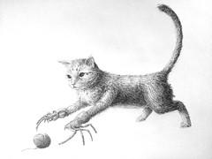 Spider Cat (redux) (Marcos Telias) Tags: illustration drawing dibujo ilustración sketch boceto bosquejo arte artista artist ballpoint bolígrafo pen lápiz fantasy