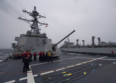 170716-N-BY095-0027 (U.S. Pacific Fleet) Tags: ussshoup ddg86 replenishmentatsea destroyer arleighburkeclass deployment carrierstrikegroup11 desron9 malabar2017 insjyoti bayofbengal