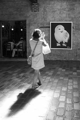 La belle et la chouette (amor du 94) Tags: 12ème animaux artculture cinéma danslarue femme parcdebercy parissud photographie scène sujet harcourt studioharcourt hedwige harrypotter bercy