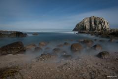 Larga Exposición Nocturna (rockdrigomunoz) Tags: largaexposicion playa paisaje landscape mar rocas noche nocturno