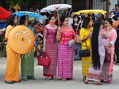 Shan State Women (@Mark_Eveleigh) Tags: asia asian burma burmese east indochina myanmar south kalaw heho shan state ceremony buddhist festival procession carnival costume traditional