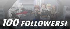 100 Followers! (kyle.jannin) Tags: lego legostarwars a new hope 100 followers hansolo leiaorgana lukeskywalker chewbacca stormtroopers deathstar hallway starwars episodevi
