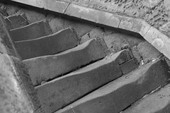 StepUp (Tony Tooth) Tags: nikon d7100 nikkor 40mm steps bw blackandwhite monochrome staircase worn weathered stone sheen church staffs staffordshire