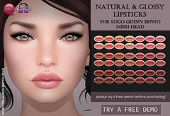 LOGO Quinn Natural & Glossy Lipsticks (Izzie Button (Izzie's)) Tags: logo omega quinn makeup lipstick sl izzies
