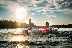 Besties. (lebramlett721) Tags: nikon d750 sigma35art lake lakelife swimming summer splash girls sunset