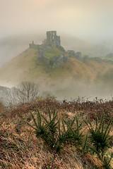 Misty Morning (midlander1231) Tags: mist misty morning dawn corfe corfecastle landscape dorset castle sky nature