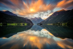 Mirror (andreassofus) Tags: norway mountain mountains mountainscape mirror reflections landscape grandlandscape water lake fjord sky clouds leegobstopper leefilter bigstopper longexposure travel travelphotography outdoor sunset evening stryn sognfjordane cool amazing beautiful seaside beach grass summer summertime vvisitnorway scandinavia canon canon6d manfrotto