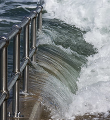 Wave (Arvor Photography) Tags: 2017 arvorphotography darylhutchinson landscapephotography nopeople railings sea slipway wave