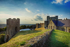 Dover Castle (Ian Smith (Studio72)) Tags: rx100 sonyrx100 uk england kent dover dovercastle englishheritage castle ruins history historic wall magichour hdr summer sunshine sunny warm landscape studio72