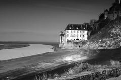 House on the edge (delphine imbert) Tags: mont saint michel basse normandie monochrome noir blanc marée architecture monument historique horizon ciel pierres mystique