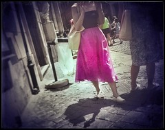Roman holidays_ (RoS_Roll over Shape_) Tags: softness lightness dreams dreaming urbanfragments urban roma rome outdoor pink street