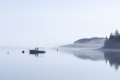 The still of the morning 2 (8230This&That) Tags: maine newengland coastalmaine coastalnewengland fishingvillage lobster roadtrip seascape fog stillofthemorning lubec me boat usa