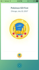 "Chicago Pokemon GO Fest Badge • <a style=""font-size:0.8em;"" href=""http://www.flickr.com/photos/109120354@N07/35302555543/"" target=""_blank"">View on Flickr</a>"