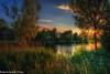 Last of the sun (martin.baskill) Tags: landscape reeds lakeside water light evening july sunset 2017 nottinghamshire colorsinourworld