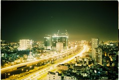 (grousespouse) Tags: saigon vietnam hcmc 2017 longexposure night city analog 35mm film nikonf3 nikonseriese 28mm wideangle bulb cityscape agfavista200 analogue croplab grousespouse filmisnotdead
