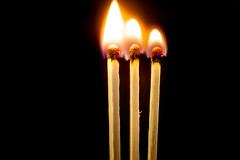 The Power of Three (DarrenCowley) Tags: macromondays three fire flame matches