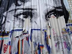 Traces of street art (Jeanne Menjoulet) Tags: paris ruejulienlacroix collage streetart déchiré yeux eyes pasteup traces
