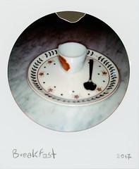 Breakfast (Italian Film Photography) Tags: breakfast colazione cup coffee tazza caffè spoon cucchiaio dish piatto impossible instant istantanea film analogue color round analogica pellicola daily