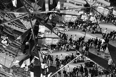 urban kaleidoscope (ken_tsuda) Tags: harajuku tokyo japan reflection nikon d810 50mm f14 kentsuda vsco street ニコン bw mirror 20170504a4tokyoharajuku6235