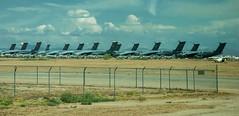 Tuscon Air Force Boneyard (15 of 25) (macfanmd) Tags: c5 yellow arizona aircraft boneyard airforce davismonthanafb afb vintageaircraft desert history historic military