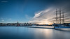 Evening sunset - Stockholm (jerry_lake) Tags: 14mm 2017 79secs d750 iso80 leesuperstopper nikon1424mmf28 scandi stockholm f80 jetty longexposure sailingboat skyline sunset