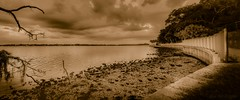 Shades of Monochrome (JDS Fine Art Photography) Tags: monochrome sepia landscape ocean water sunset panorama stitched beach beauty naturesbeauty naturalbeauty inspirational atmosphere clouds sky
