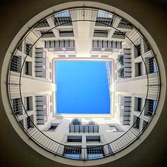 Geometrie (masinoserrago) Tags: iphone7 olloclip italy italia symmetrical architecture round square sicily sicilia palermo