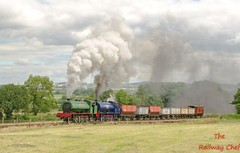 No.7 Wimblebury & No. 3 Whiston (LMSlad) Tags: foxfield railway wimblebury no7 austerity hunslet 060st whiston ncb