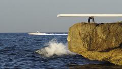 My Big Pool (panoround hutter) Tags: springboard water sea sunset mare mer deniz blue swimming schwimmen travel
