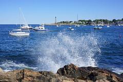 Marblehead, MA (elalex2009) Tags: marbleheadma massachusetts marblehead marbleheadharbor seascape lighthouse water waves splash
