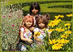 Blumenkinder ... (Kindergartenkinder) Tags: dolls himstedt annette park blume garten kindergartenkinder essen grugapark personen blumen sanrike milina sommer kindra