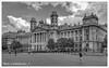 Néprajzi Múzeum - Ethnografisches Museum, - Budapest (johnfranky_t) Tags: palazzo budapest ungheria di giustizia corte suprema johnfranky t cavalli statue nuvole colonne piazzale alberi tram finestre