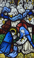 Nativity (1923) (Simon_K) Tags: ely cambridgeshire cambs eastanglia cathedral window glass stained sgm nikon d5300