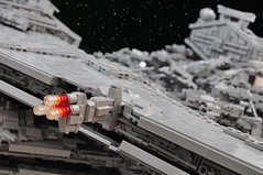 Star Wars: Rogue One - Star Destroyer Crash (Si-MOCs) Tags: starwars rogueone rouge one lego star destroyers isd crash destroyer space kaboooms