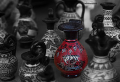Ancient vessels (theseustroizinian) Tags: close up macro art ancient greece vessel selective color hellas hellenic