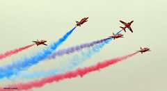 Red arrows J78A0270 (M0JRA) Tags: red arrows riat airforce american usa airshows shows jets planes flying aircraft sky clouds rain weather
