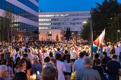 IMGP7216 (TomaszMazon) Tags: protest democracy krakow poland court anti government crowd