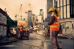 Non-stop constructions (TAHUSA) Tags: leica camera warm tone sunset hongkong hk hong kong m2 colour slide positive film rollei vario chrome 320 iso400 summicron 35mm f2 352 35 wide portrait documentary life mood moment
