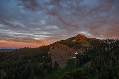 Firetop Mountain (Middle aged Nikonite) Tags: red lake california nikon d7200 landscape sunset mountain forest trees vista scenic outdoor clouds