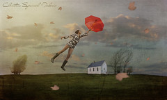 Levitation (christina.todorov) Tags: levitation umbrela red house winds flying