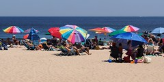 Beach Umbrellas (markchevy) Tags: jerseyshore atlantic ocean beach sandy boardwalk umbrellas colorful oceangrove nj newjersey landscape photo pictorial pix scene graphic picture vista omdem10 interesting markchevy johnspilatro