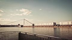 Panta Rhei(n) (AxelN) Tags: warmcolors ludwigshafen deutschland brücke himmel mannheim clouds warmefarben river bridge rhein sky fluss rheinlandpfalz wasser wolken germany