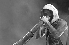 Xavier & The Didge (peterkelly) Tags: bw digital guelph ontario canada northamerica guelphlakeconservationarea hillsidefestival 2017 hillside music concert festival musician didgeridoo player playing xavierrudd
