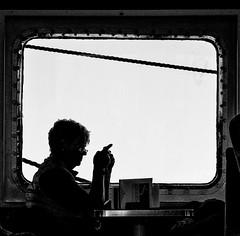 Window Seat (Georgie Pauwels) Tags: window women moment olympus transportation ship public streetphotography blackandwhite bnw