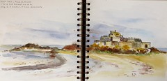 En mai, quelques jours à St Malo N°2 (geneterre69) Tags: aquarelle océan watercolor bretagne saintmalo