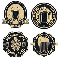 beer labels. Vintage craft beer retro design elements, emblems, symbols, icons, pub labels, badges collection (manjil280) Tags: beer craft micro stamp bar anchor sailor overhead view pint sign cap wheat element alcohol top brew bottle design quality seal homebrew vintage ale stout logo glass isolated nautical brewer beverage brewery hops restaurant malt typography brewing label insignia emblem icon brand badge oktoberfest classic lager original ingredient draft logotype