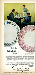 Carefree china by Syracuse 1964 (Nesster) Tags: good housekeeping magazine april 1964 vintage ad advert advertisement